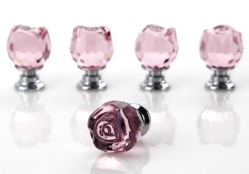 pink crystal door knobs photo - 14