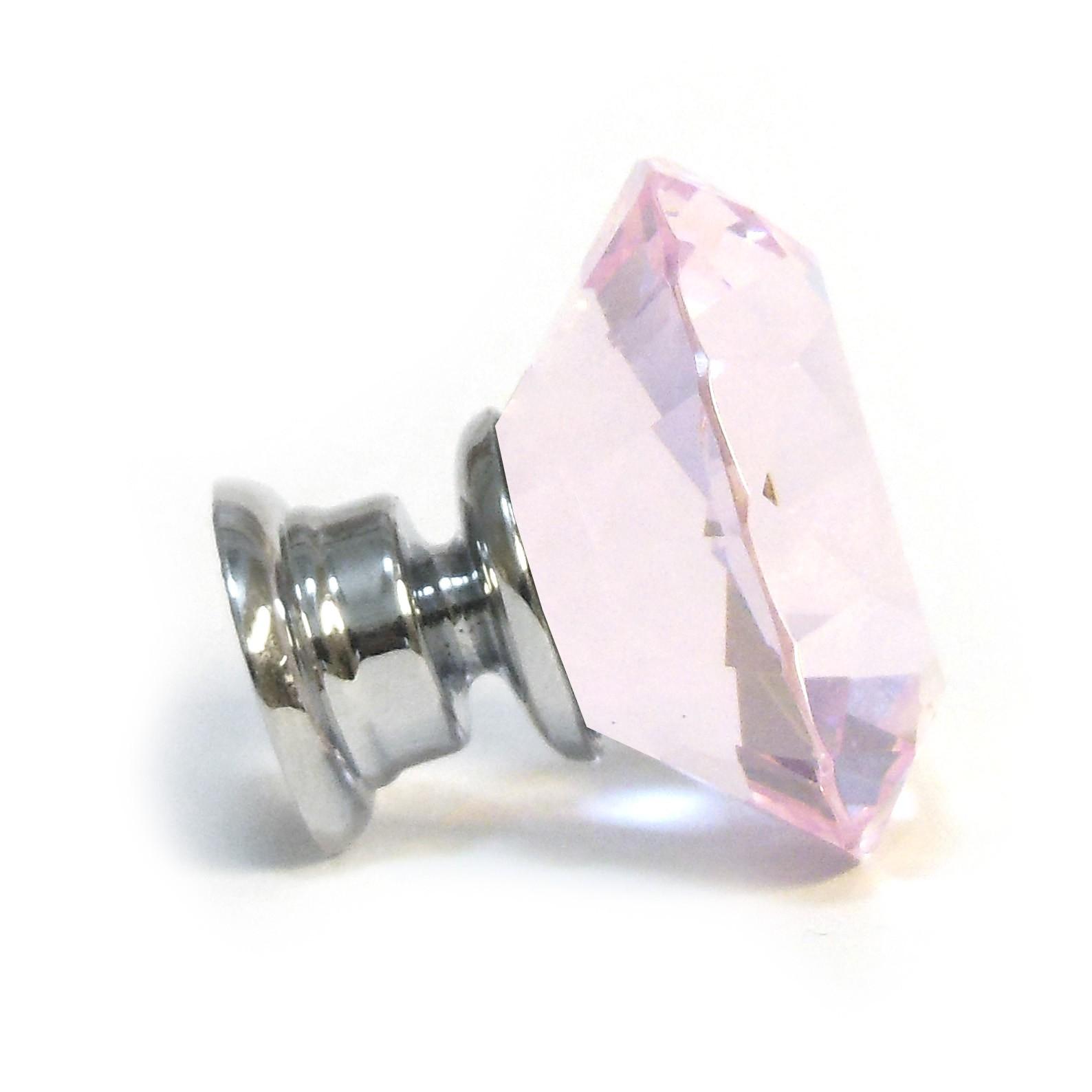 pink crystal door knobs photo - 15