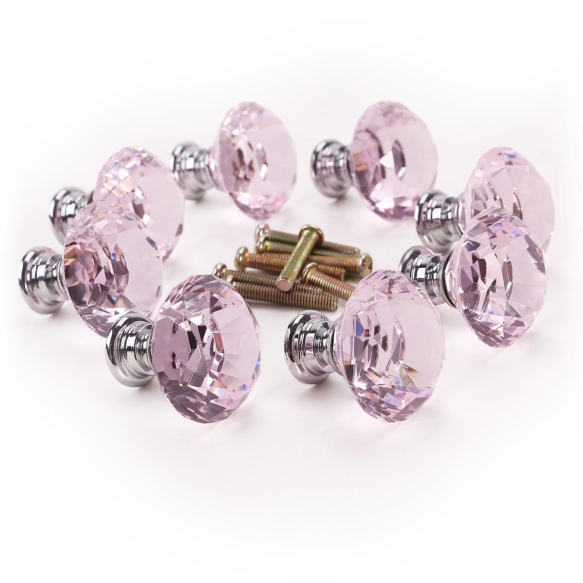 pink crystal door knobs photo - 7