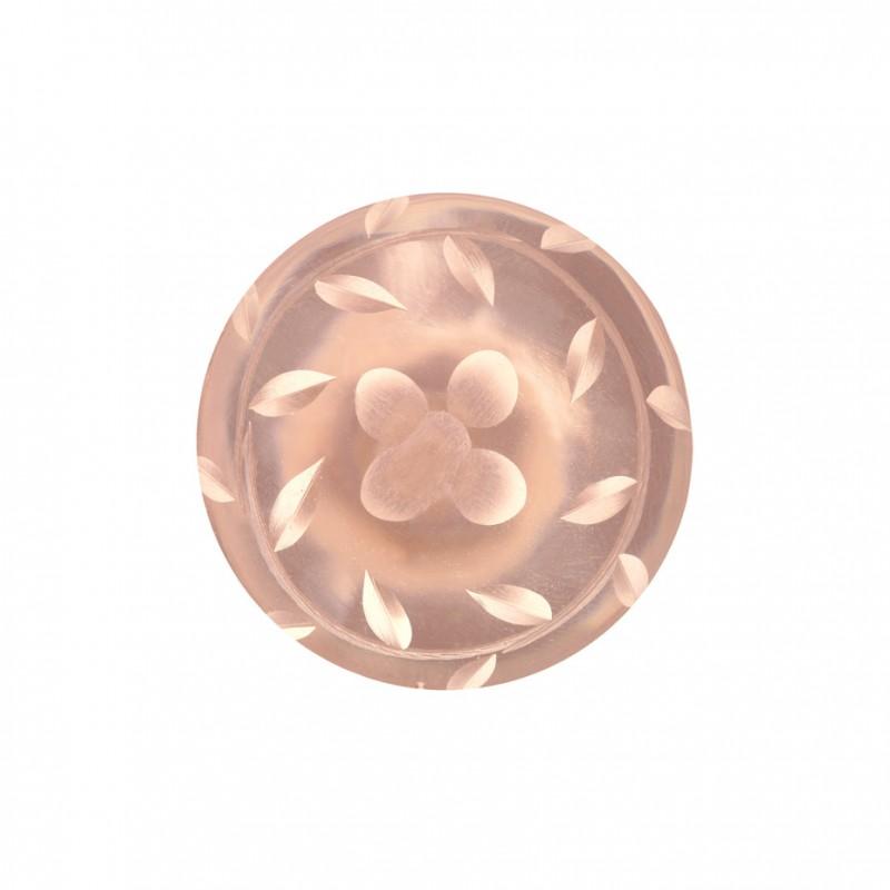 pink glass door knob photo - 3