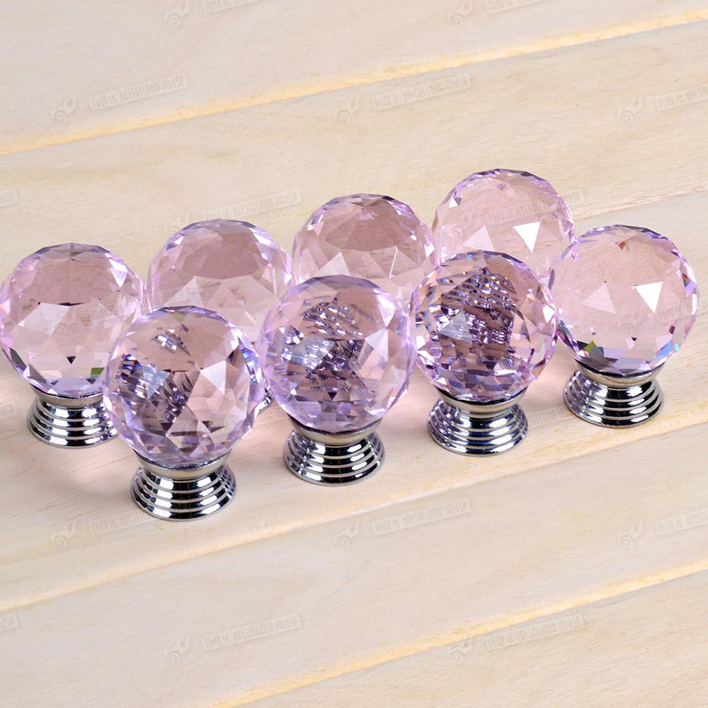 pink glass door knobs photo - 16