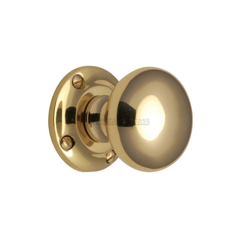 polished brass door knobs photo - 16