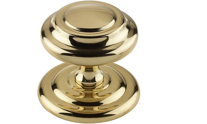 polished brass door knobs photo - 19