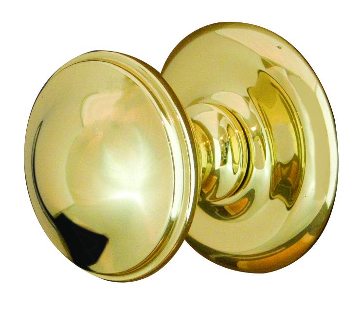 polished brass door knobs photo - 20