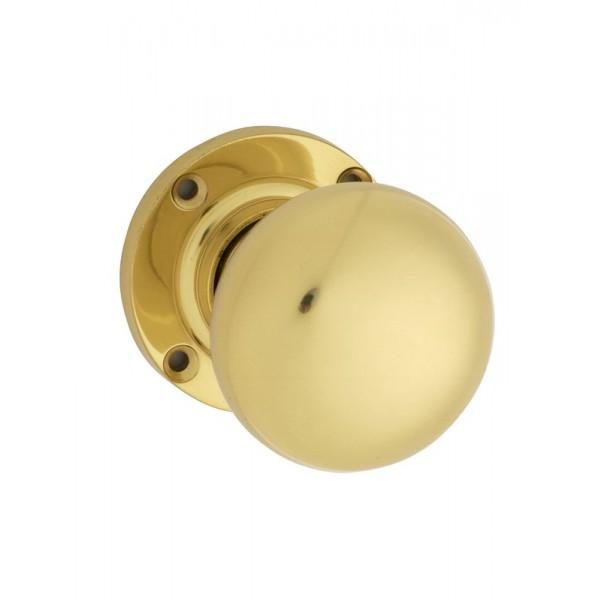 polished brass door knobs photo - 8