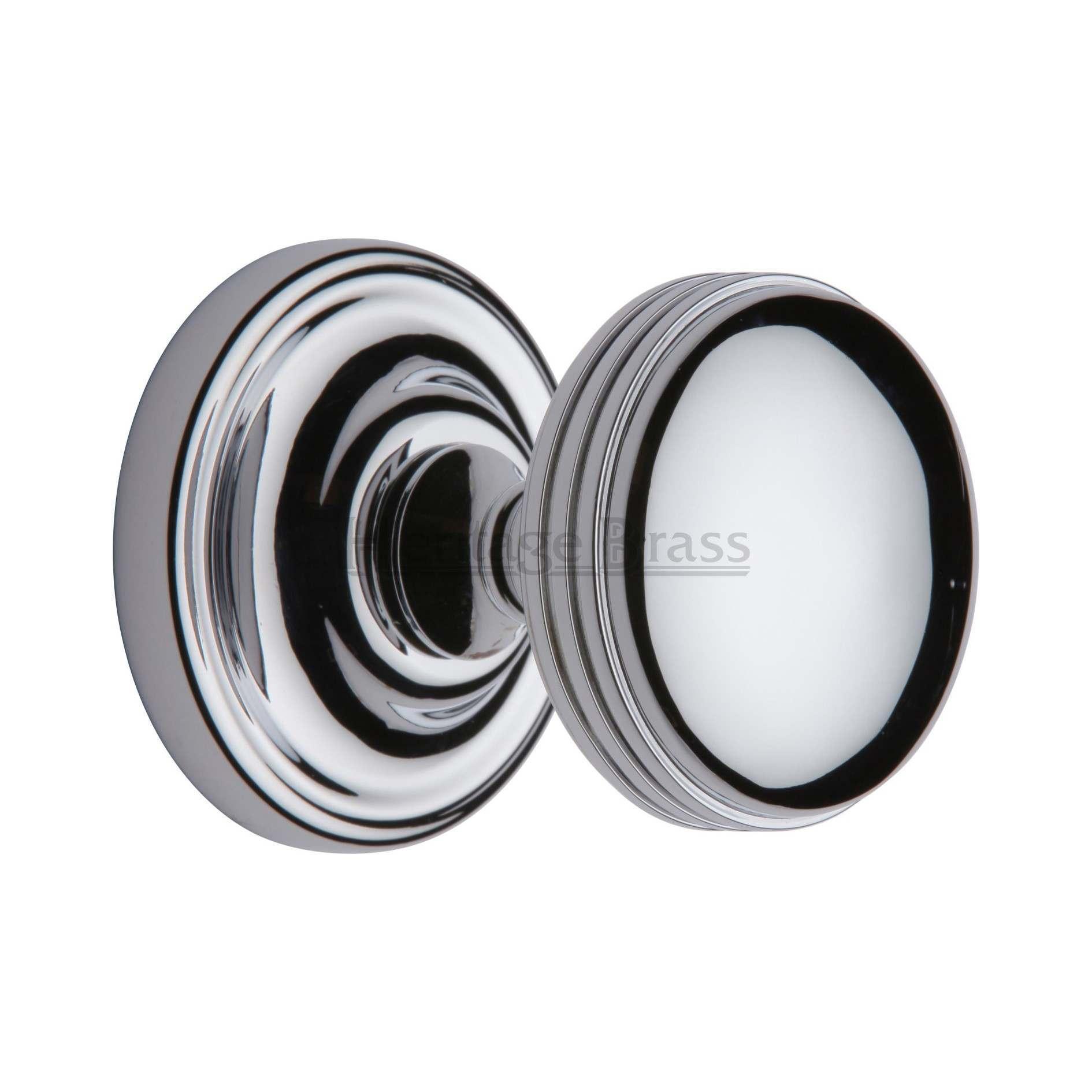 polished chrome door knob photo - 11