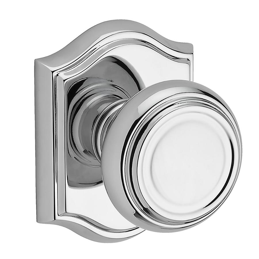 polished chrome door knob photo - 13