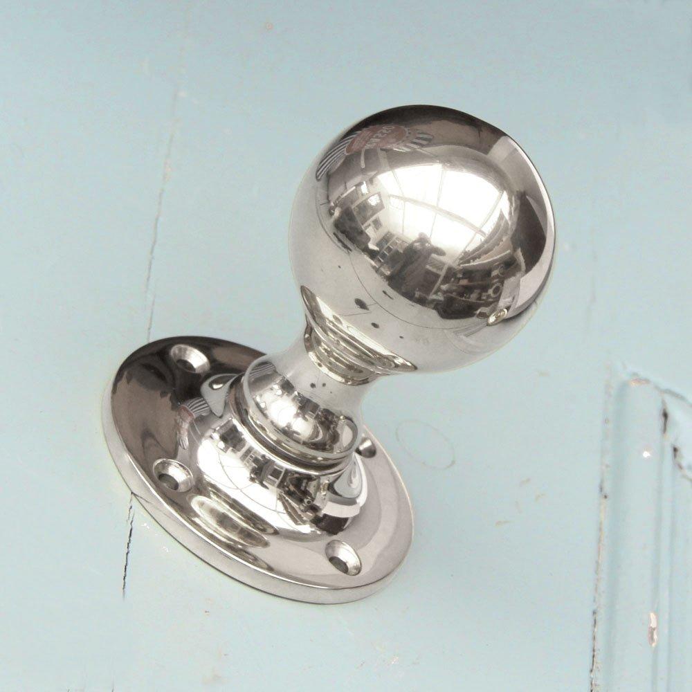 polished nickel door knobs photo - 1