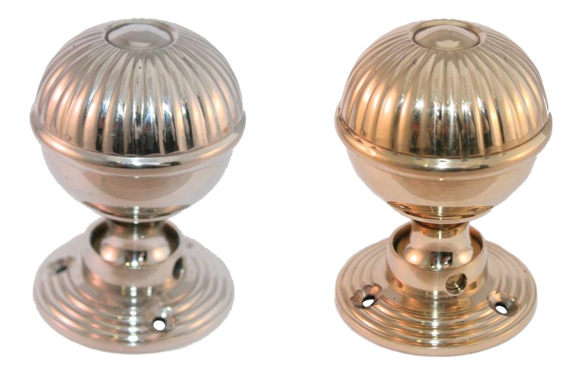 polished nickel door knobs photo - 10