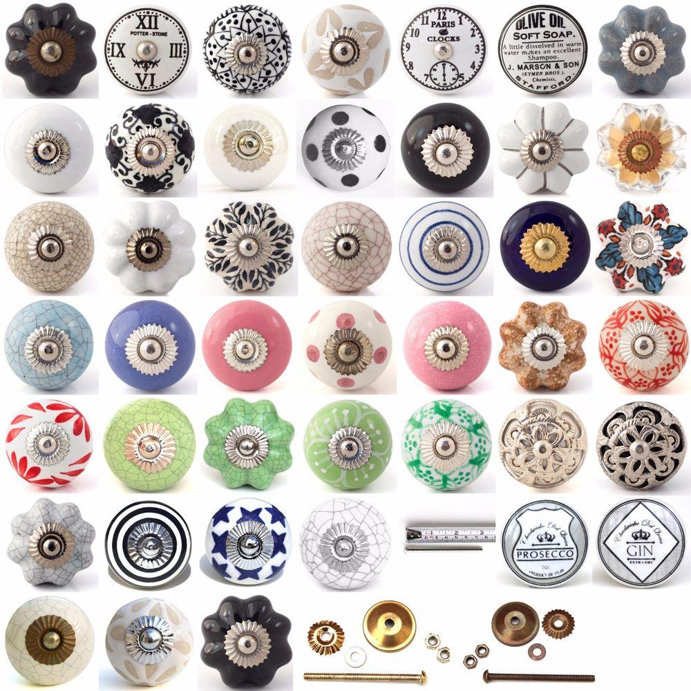 porcelain cupboard door knobs photo - 12