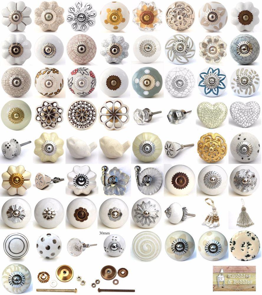 porcelain cupboard door knobs photo - 5