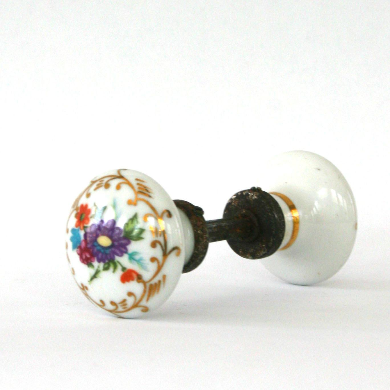 porcelain door knobs antique photo - 1