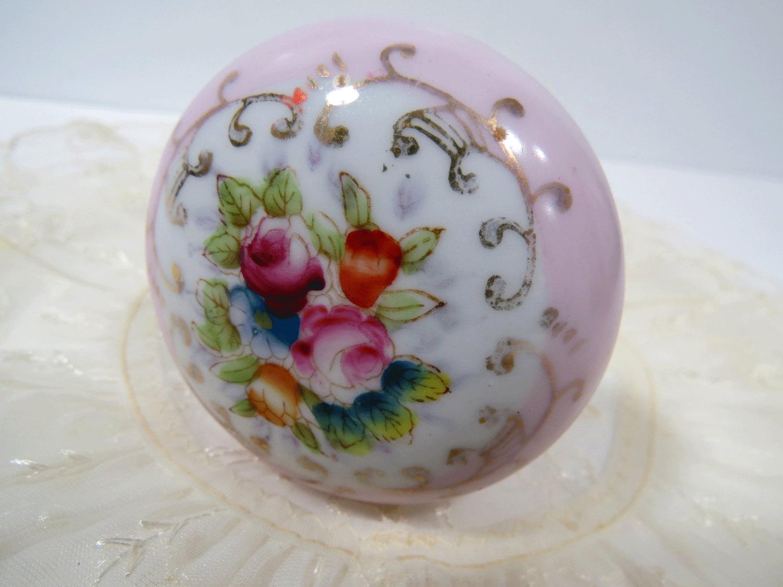 porcelain door knobs floral photo - 19