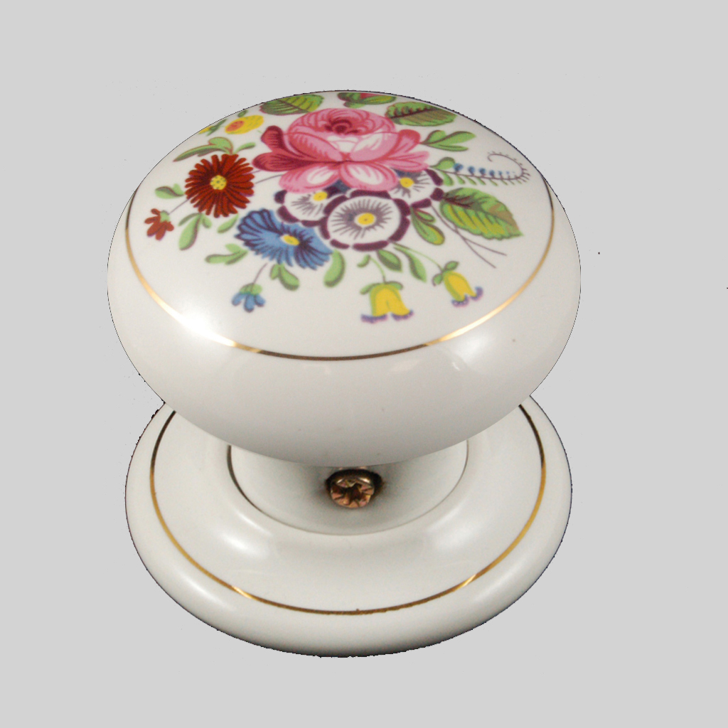 porcelain door knobs floral photo - 5