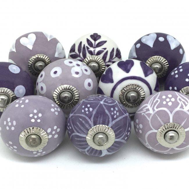 purple door knobs photo - 13