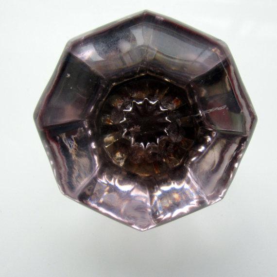purple glass door knobs photo - 10