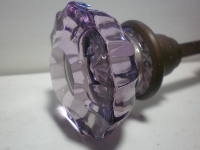 purple glass door knobs photo - 11