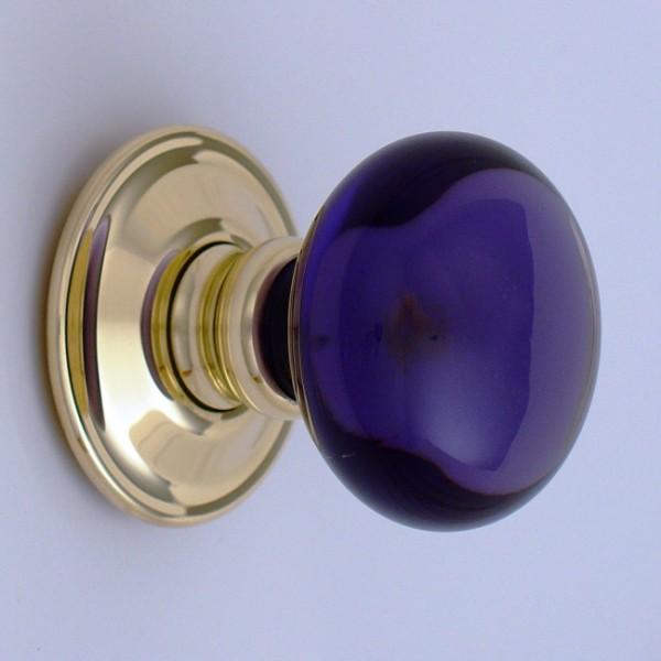 purple glass door knobs photo - 16