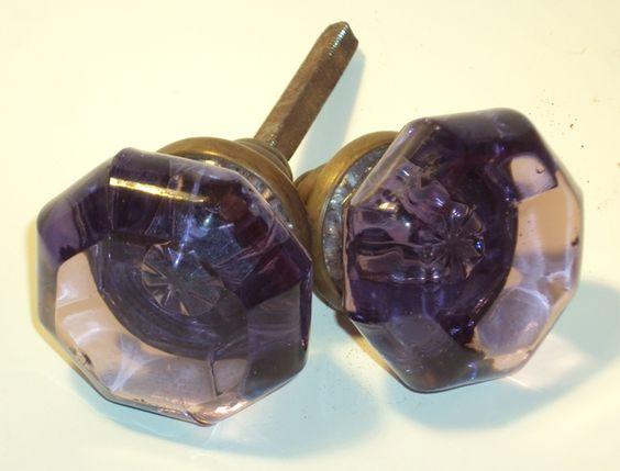 purple glass door knobs photo - 17
