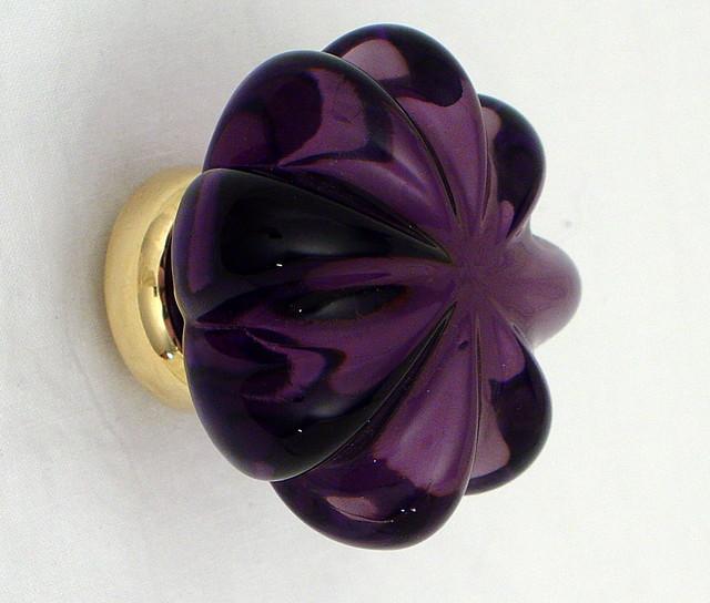 purple glass door knobs photo - 18