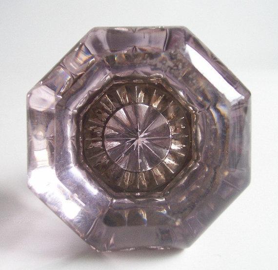 purple glass door knobs photo - 19