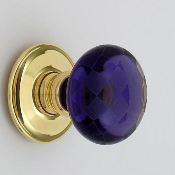purple glass door knobs photo - 20