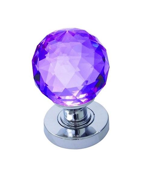purple glass door knobs photo - 7