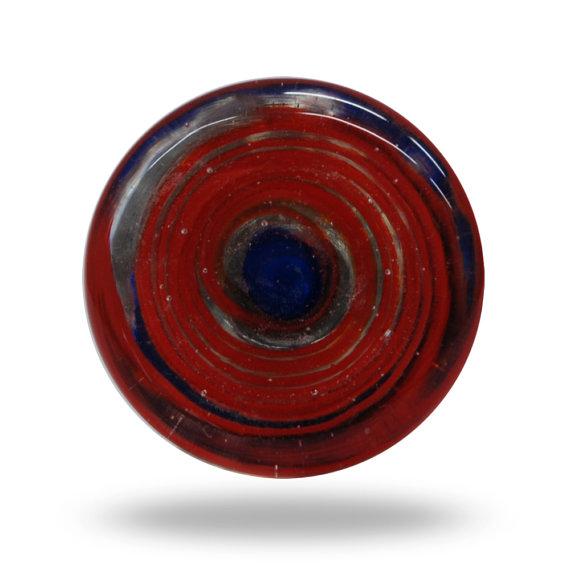 red glass door knob photo - 16