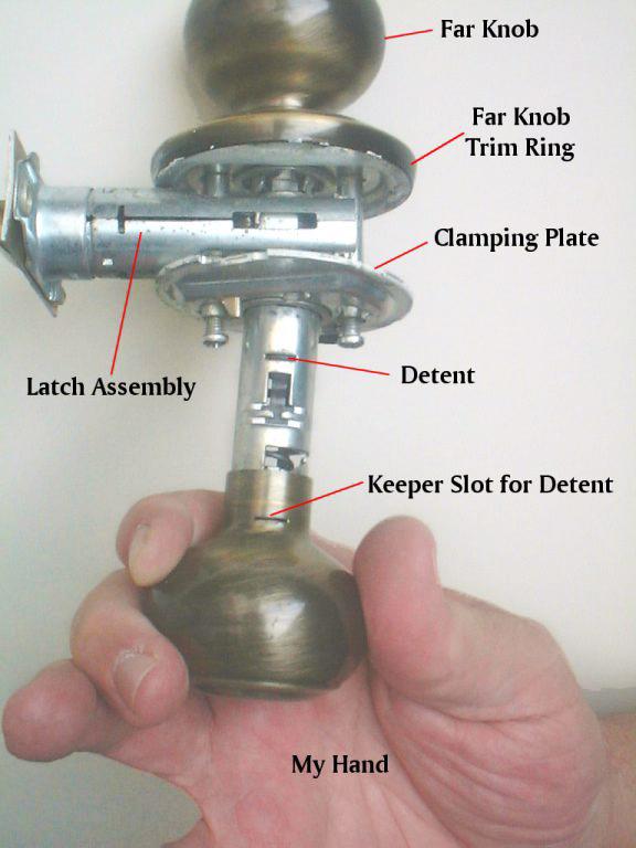 remove kwikset door knob photo - 3
