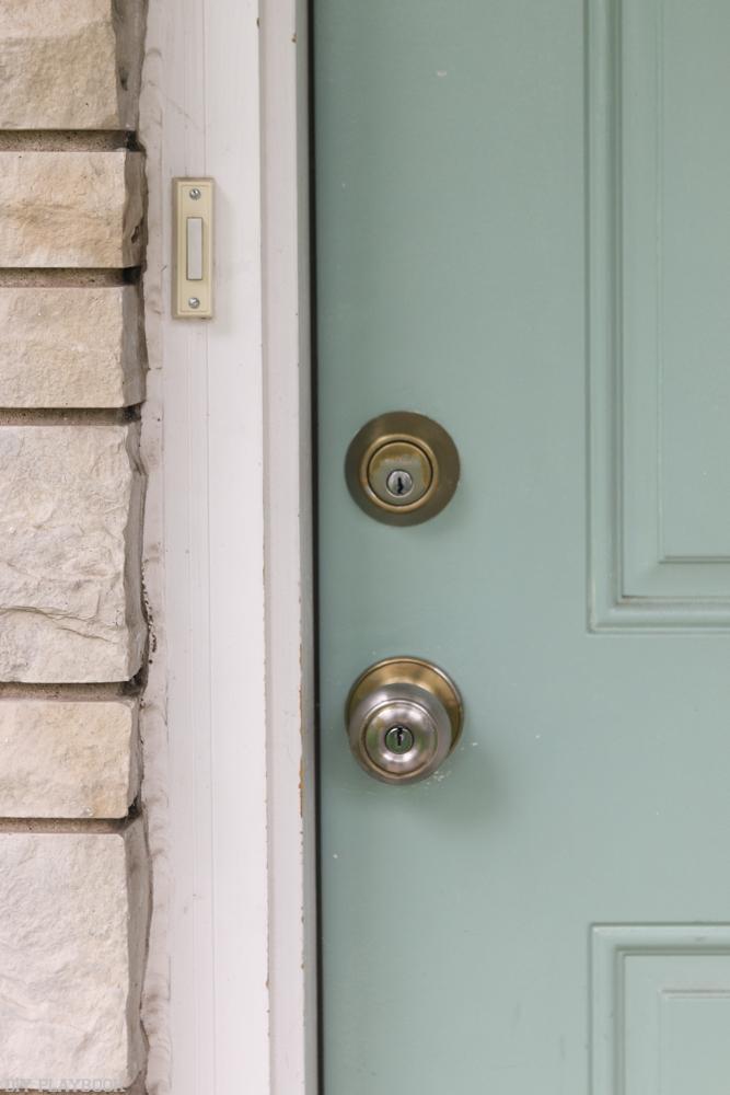 replace door knob with deadbolt photo - 13