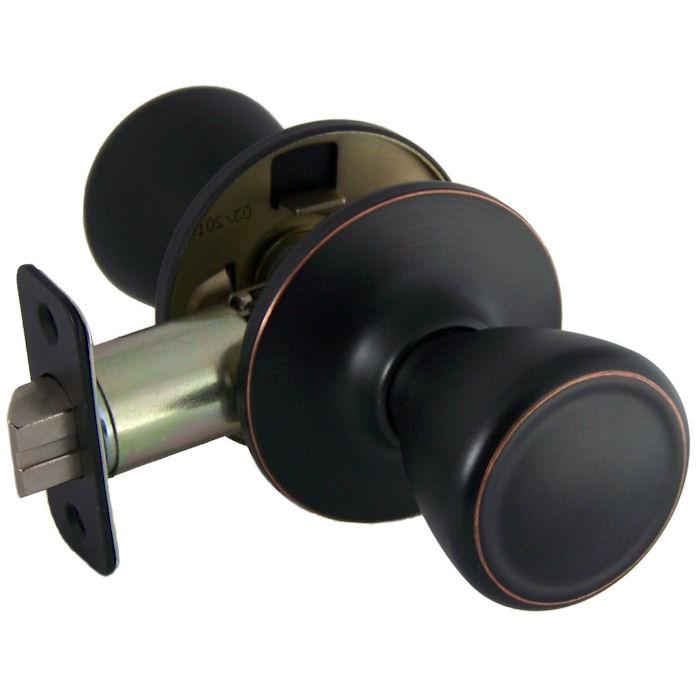 rubbed oil bronze door knobs photo - 6