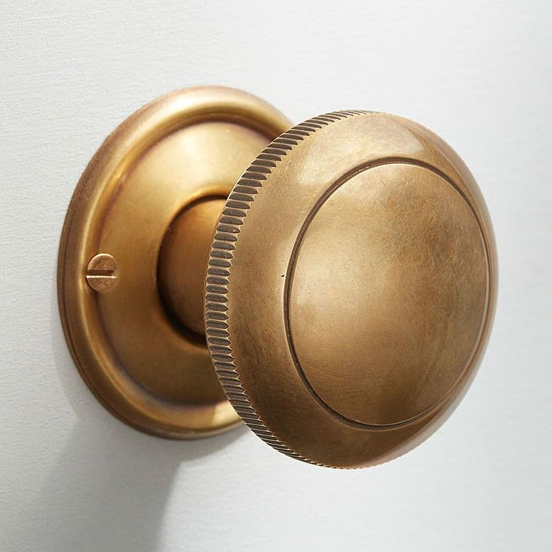 satin brass door knobs photo - 13