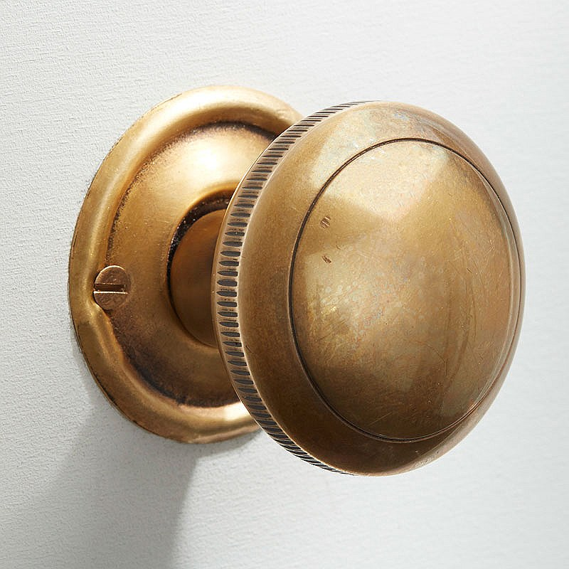 satin brass door knobs photo - 14