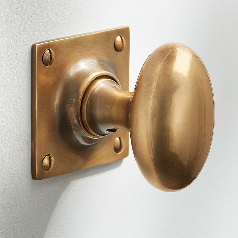 satin brass door knobs photo - 19