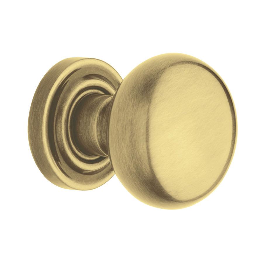 satin brass door knobs photo - 2