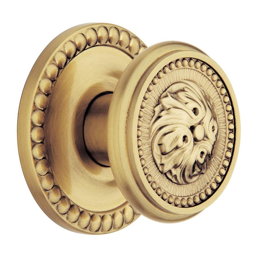 satin brass door knobs photo - 8