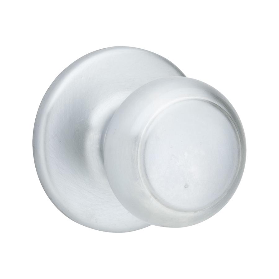 satin chrome door knob photo - 6