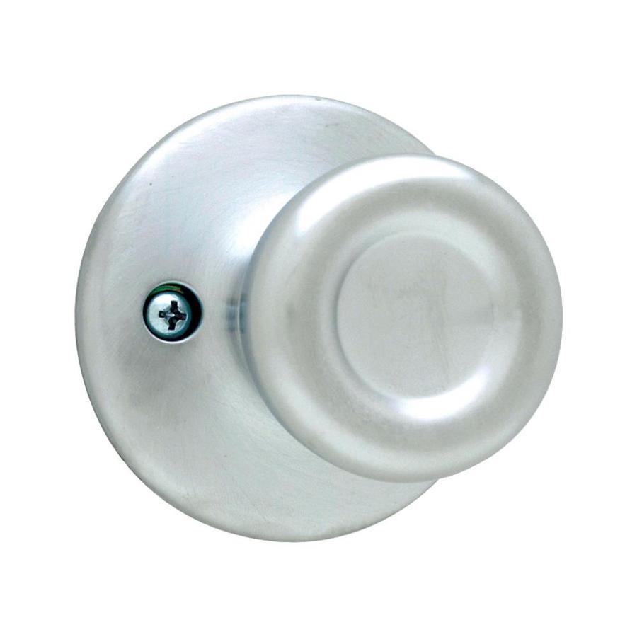 satin chrome door knobs photo - 2