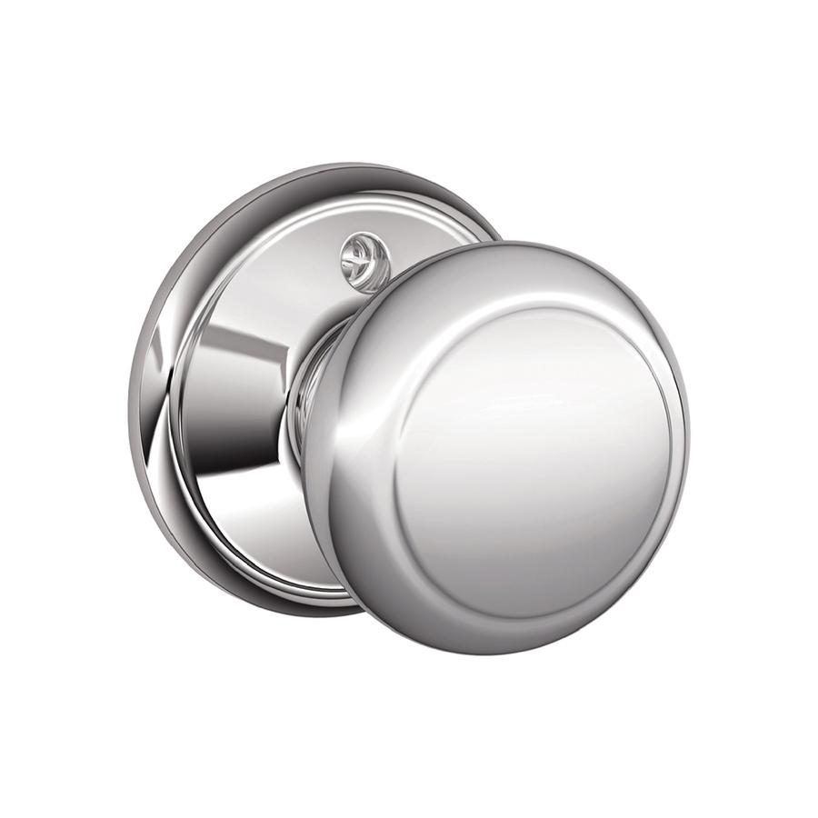 schlage chrome door knobs photo - 11