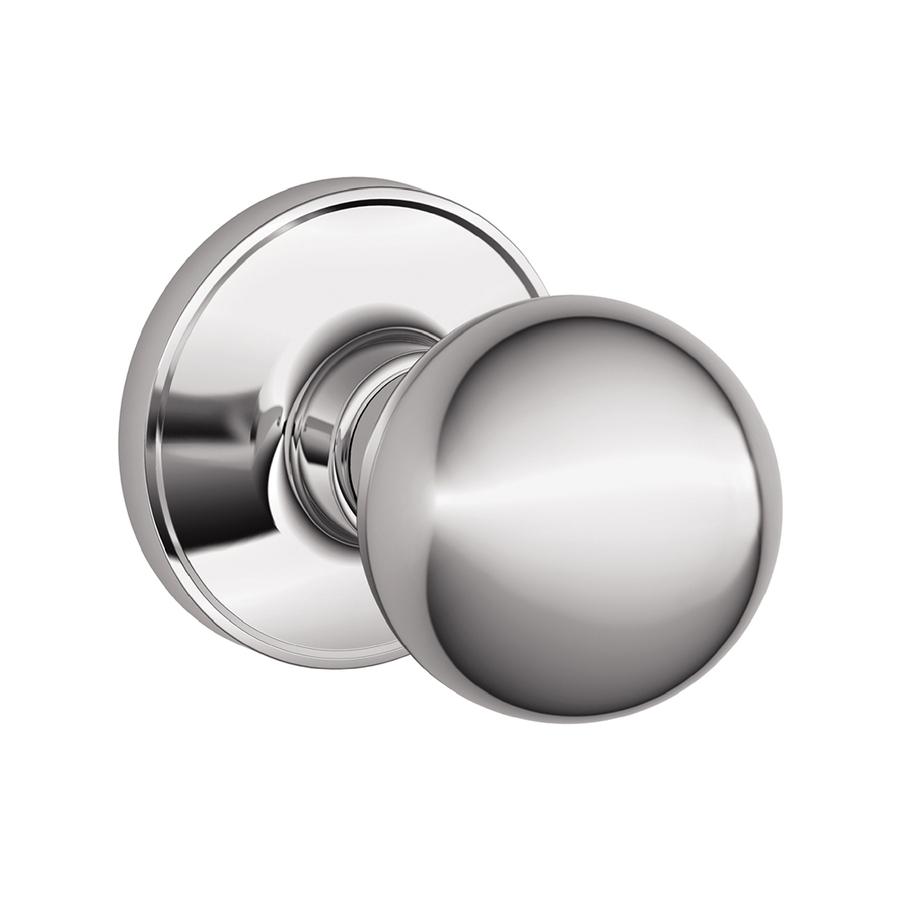 schlage chrome door knobs photo - 12
