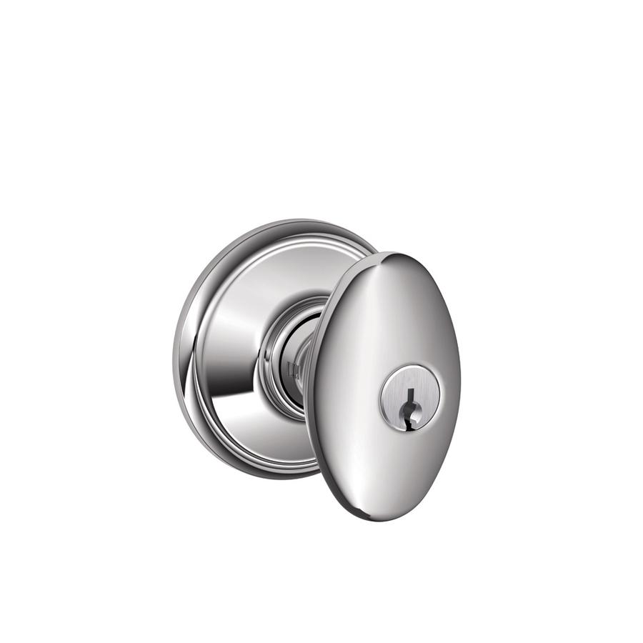 schlage chrome door knobs photo - 16