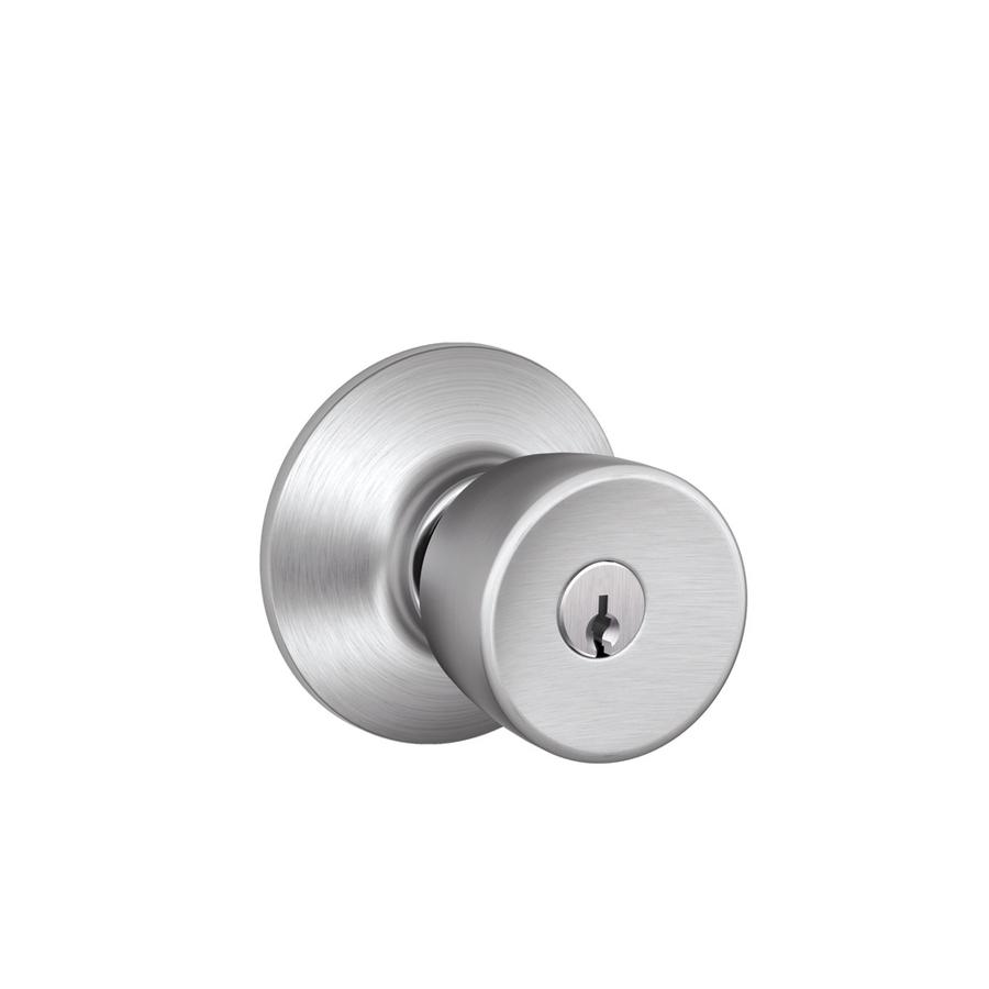 schlage chrome door knobs photo - 5
