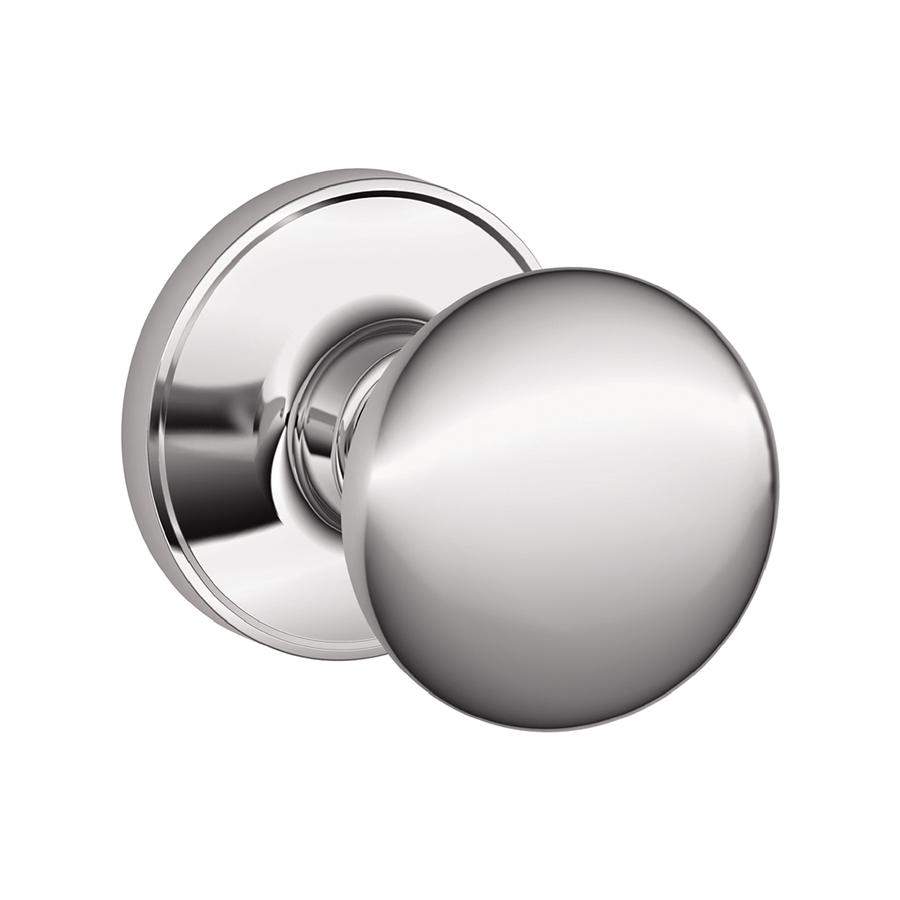 schlage chrome door knobs photo - 6