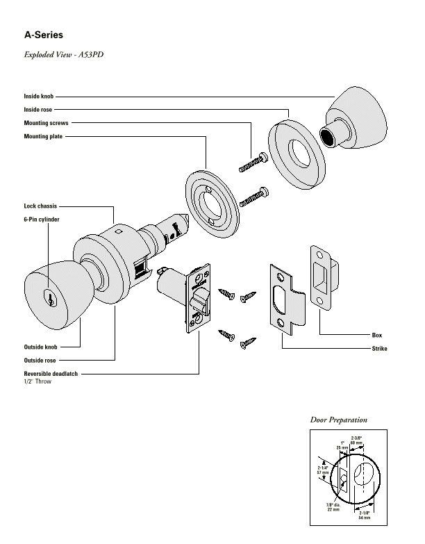 schlage door knob parts photo - 9