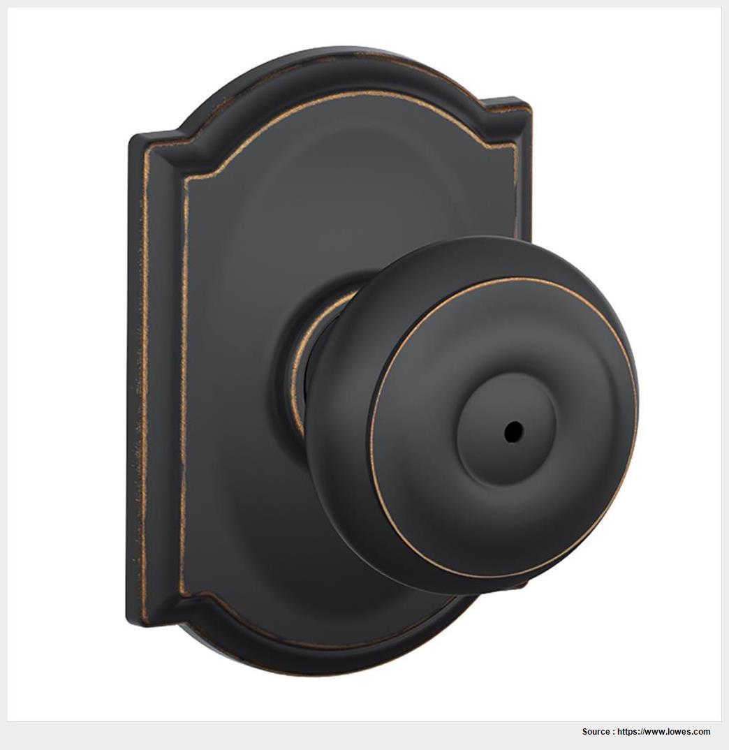 schlage oil rubbed bronze door knobs photo - 14