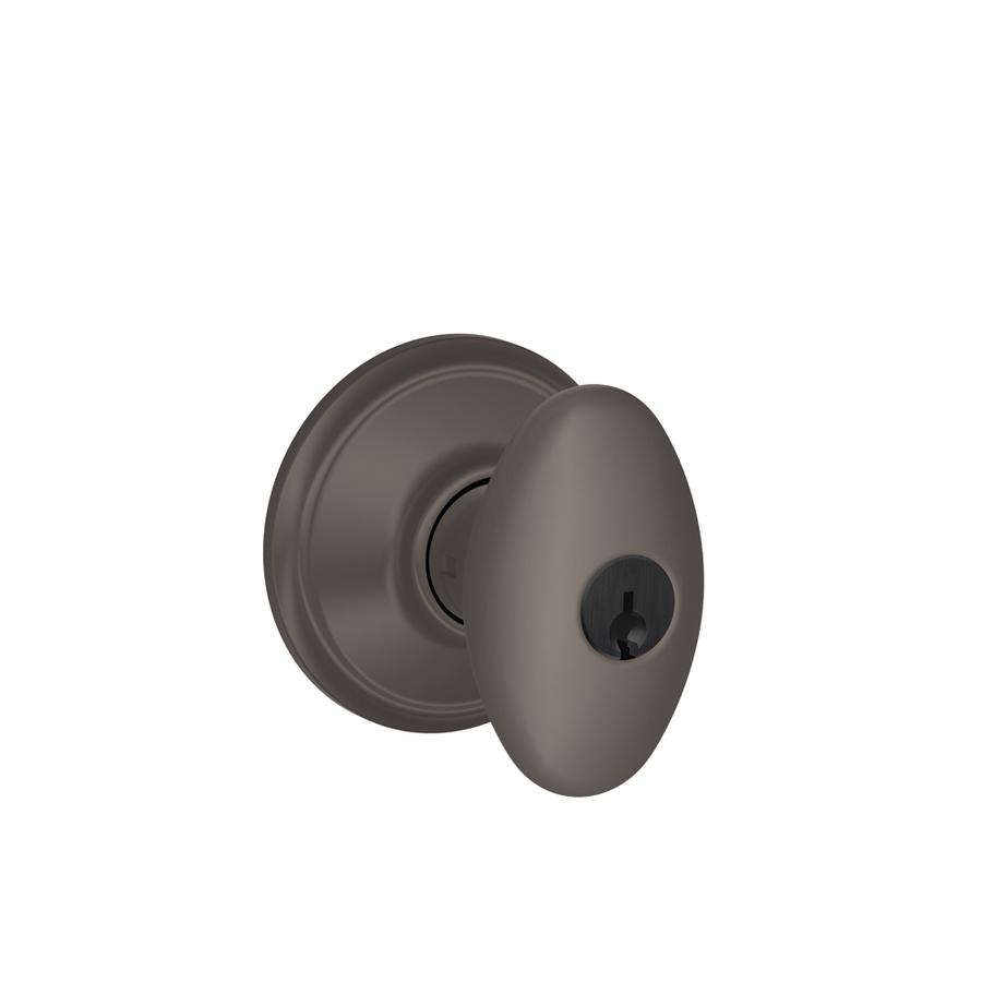 schlage oil rubbed bronze door knobs photo - 2