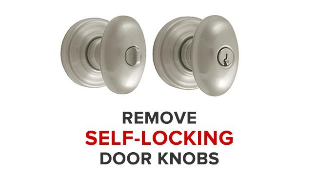 self locking door knobs photo - 1