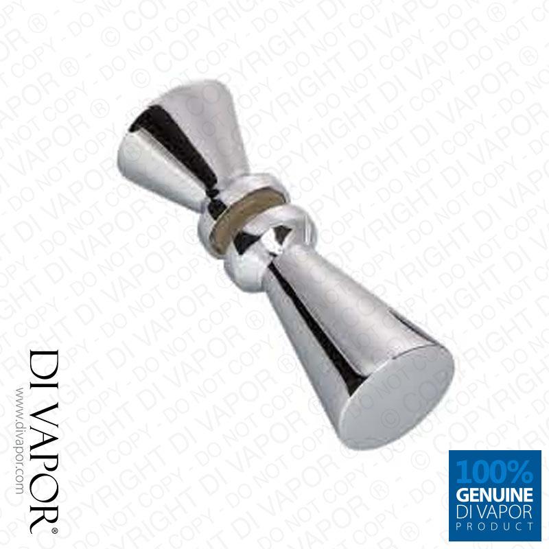 shower door knob replacement photo - 1