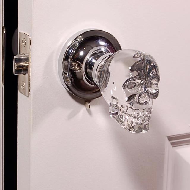skull door knob photo - 2