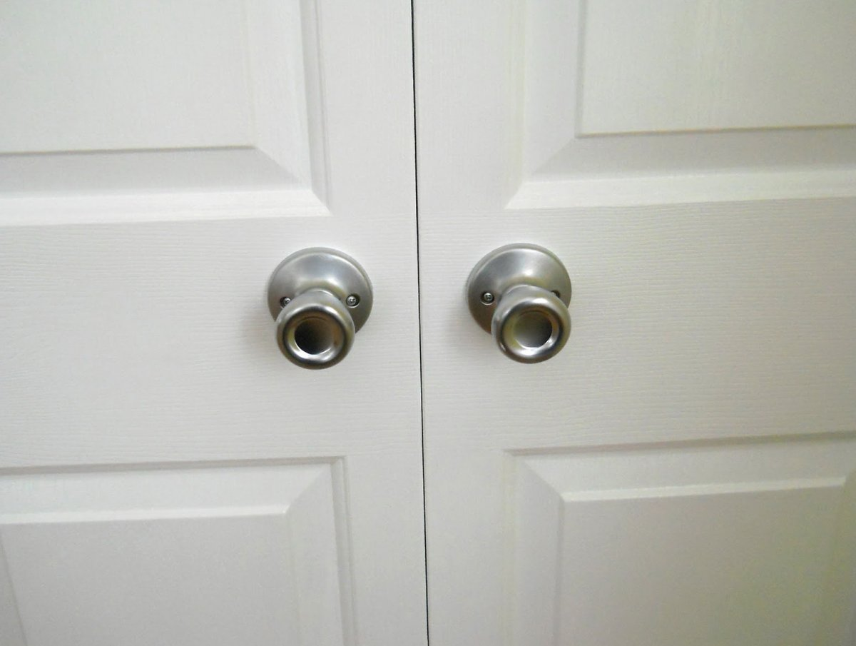 sliding closet door knobs photo - 8